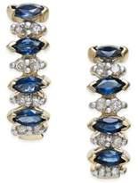 Macy's Sapphire (1 ct. t.w.) and Diamond (1/4 ct. t.w.) Drop Earrings in 14k Gold