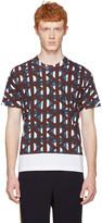 Marni White and Multicolor Thrum Print T-shirt