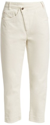 Brunello Cucinelli Cross-Over Stretch Cotton Cropped Jeans
