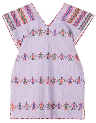 Pippa Holt Kids - No. 10 Embroidered Kaftan - Womens - Purple Multi