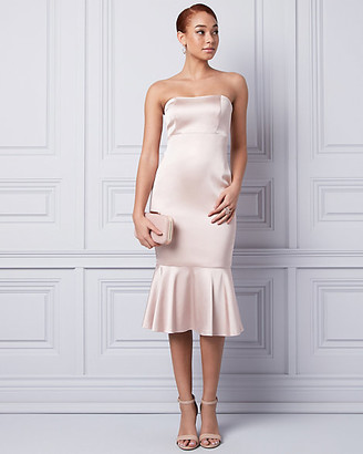 Le Château Satin Strapless Cocktail Dress
