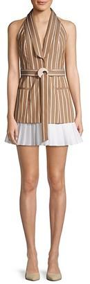 Alexis Carmona Striped Sleeveless Blazer Dress