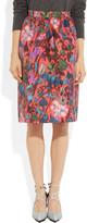 J.Crew Collection Flame floral-print jacquard skirt