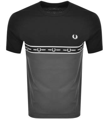 Fred Perry Taped T Shirt Grey