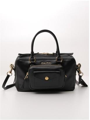 Miu Miu Logo Top Handle Bag