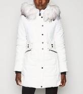 New Look QED Faux Fur Hooded Parka Coat
