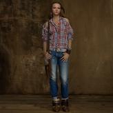 Denim & Supply Ralph Lauren Plaid Shoulder-Cutout Shirt