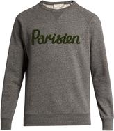 MAISON KITSUNÉ Parisien-appliqué crew-neck cotton sweatshirt