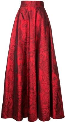 Bambah Rose Patterned Silk Skirt