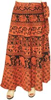 Maple Clothing Womens Long Skirt Wrap Around Printed Cotton India Clothes