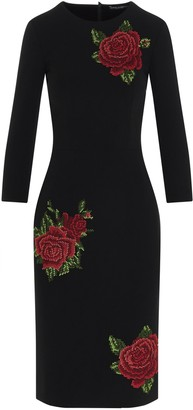 Dolce & Gabbana Rose Embroidered Midi Dress