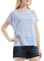 Vince Camuto Two by Short Sleeve Ikat Stars Print Tee