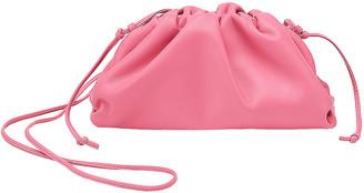 Bottega Veneta Mini Pouch Clutch in Pink & Silver | FWRD