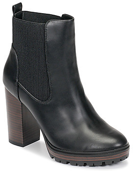 Only TAYA STACKED-1 PU HEELED BOOT