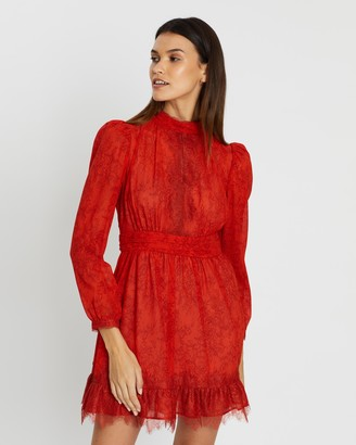 French Connection Long Sleeve Lace Dress
