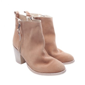 Humanoid Beige Leather Ankle boots