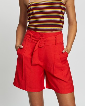 Glamorous High Waisted Long Line Shorts