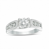 Zales 5.2mm Lab-Created White Sapphire Engagement Ring in Sterling Silver