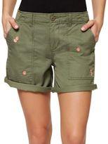 Sanctuary Cotton-Blend Roll-Up Shorts