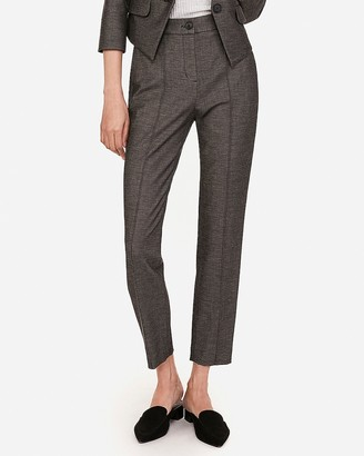 Express High Waisted Seamed Pintuck Ankle Pant