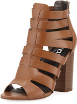 CIRCUS BY SAM EDELMAN York Cutout Zip-Up Gladiator Bootie, Saddle