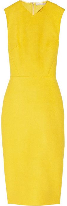 Victoria Beckham Wool-blend felt sheath dress