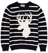 Class Club Little Boys 2T-7 Striped Stag Sweater