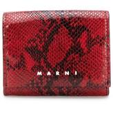 Marni snakeskin-print branded cardholder