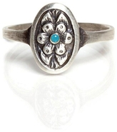 Workhorse Blossom Ring with Turquoise - Silver