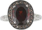 JCPenney FINE JEWELRY Garnet, Brown Quartz & White Sapphire Ring