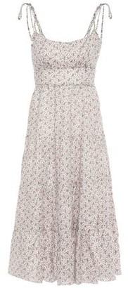 Zimmermann Heathers Tiered Floral-print Linen Midi Dress