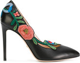 Gucci embroidered floral pumps