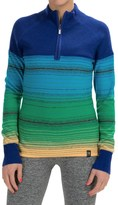 Neve Brandi Wool Sweater - Zip Neck (For Women)