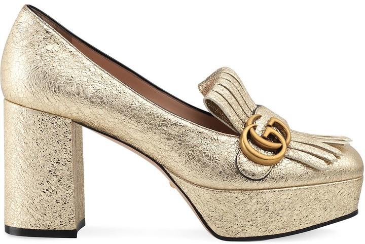 Gucci Gold Pumps | Shop the world's