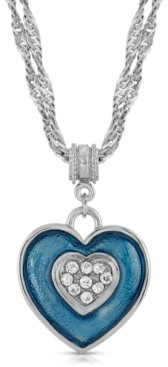 2028 Enamel Heart with Swarovski Crystal Accent Necklace