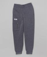 CB Sports Charcoal & White Zip Pocket Sweatpants - Tween