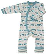 Pigeon-organics For Kids Pyjama Romper Suit Long Farm Blue 12-18 Months