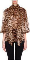 Dolce & Gabbana Leopard Print Chiffon Blouse