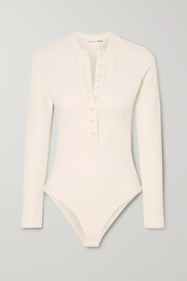 Reformation Nisa Stretch Organic Cotton Bodysuit - Ivory