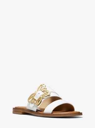 MICHAEL Michael Kors Lyra Butterfly Embellished Leather Sandal