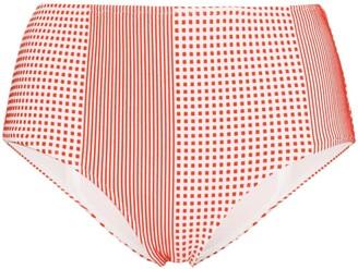Lemlem Luchia high-waisted printed bikini bottoms