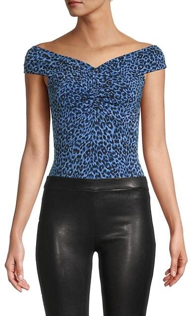 Thumbnail for your product : BCBGMAXAZRIA Off-The-Shoulder Leopard-Print Bodysuit
