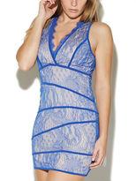 Arden B V-Neck Lace Panel Dress