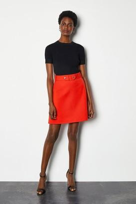 Karen Millen Cinch Waist A-Line Skirt