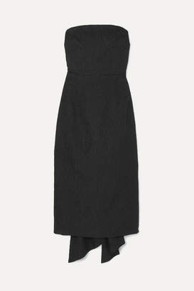 Rebecca Vallance Harlow Bow-detailed Cloqué Dress - Black