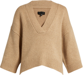 Nili Lotan Logan V-neck cashmere-blend sweater