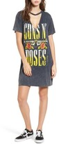 Mimichica Women's Mimi Chica Guns N' Roses Distressed Band T-Shirt Dress