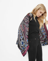 TALLIAH Treasured Trinkets silk cape scarf
