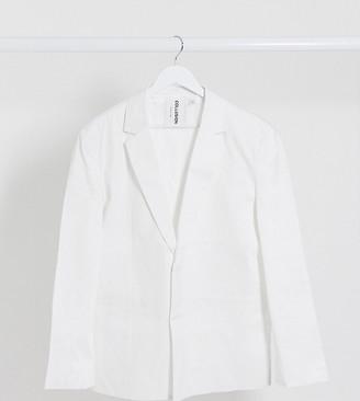 Collusion oversized blazer in white