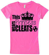 Micro Me Hot Pink 'Princess Wears Cleats' Tee - Infant, Toddler & Girls